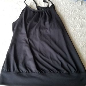 Black Workout top size medium built in bra